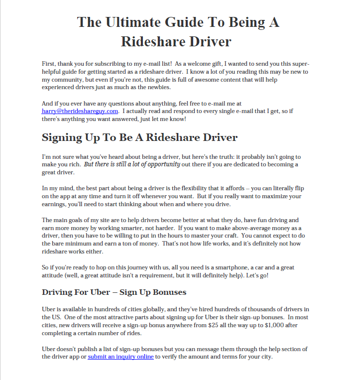Ultimate Guide to Uber Driving