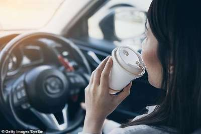 Drinking Coffee While Driving